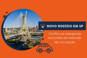 Categorias isentas do rodizio de São Paulo.